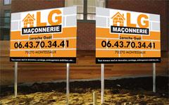 Impression de panneaux publicitaires et pancartes sur for Pancarte publicitaire exterieur